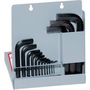 Short Series Hex-L Key Set with Metal Box Sizes 0.028 in. to 5/8 in. (18-Piece)