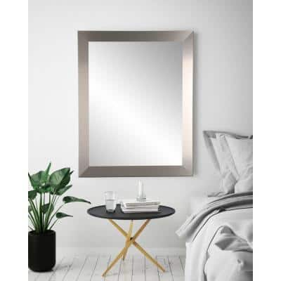 Large Rectangle Silver Modern Mirror (55 in. H x 32 in. W)