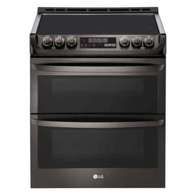 7.3 cu. ft. Smart Double Oven Electric Range with ProBake Convection & EasyClean in Black Stainless Steel