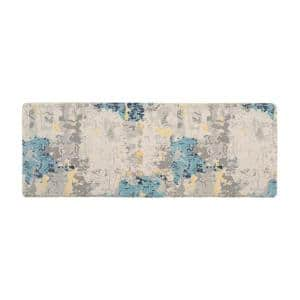 Cream Transitional Abstract 18 in. x 47 in. Anti Fatigue Standing Mat