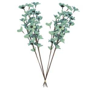 32 in. Teal Deco Flowers Dried Natural (2-Pack)