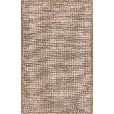Earthly Beige/Off-White 9 ft. x 12 ft. Interwoven Natural Jute Area Rug