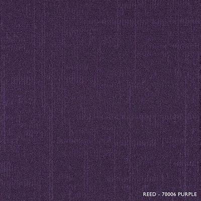 Reed Purple Loop 19.68 in. x 19.68 in. Carpet Tiles (8 Tiles/Case)