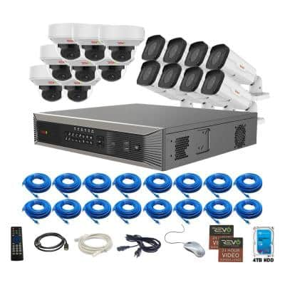 Ultra Plus Commercial Grade 16-Channel 4K Smart NVR 4TB HDD and 16x True 4K Motorized Lens Indoor/Outdoor Cameras