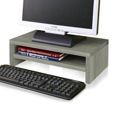 zBoard Eco Grey 2-Shelf Computer Monitor Stand
