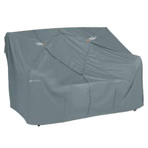 Storigami 33 in. L x 58 in. W x 32 in. H Easy Fold Love Seat Sofa Cover in Monument Grey
