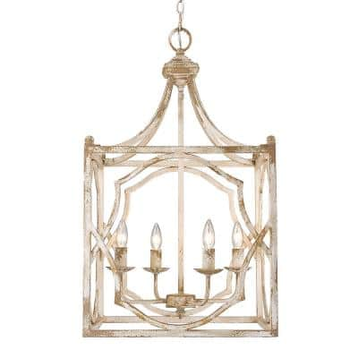 Laurent Collection 4-Light Antique Ivory Pendant