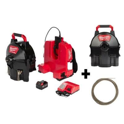 M18 FUEL Cordless Drain Cleaning 3/8 in. Switch Pack Sectional Drum System Kit W/ Bonus 5/16 in. x 75 ft. Cable & Drum
