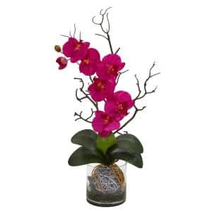 Indoor Phalaenopsis Orchid Artificial Arrangement in Vase