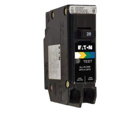 BR 20 Amp All in One AF/GF Plug-On-Neutral Breaker