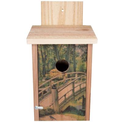 Wooden Bridge Design Cedar Blue Bird House