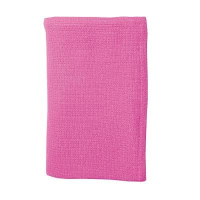 Cotton Weave Peony Solid Woven Throw Blanket