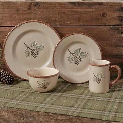 Pinecroft 12 oz. Tan Ceramic Coffee Mug (Set of 4)