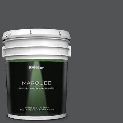 5 gal. #PPU18-01 Cracked Pepper Semi-Gloss Enamel Exterior Paint & Primer