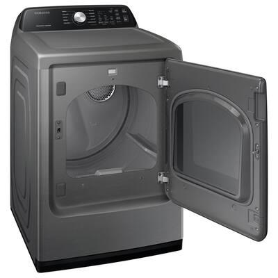 Large 7.4 cu. ft. Capacity Platinum Electric Dryer with Sensor Dry