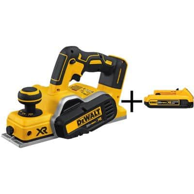 20-Volt MAX XR Cordless Brushless 3-1/4 in. Planer with (1) 20-Volt 2.0Ah Battery