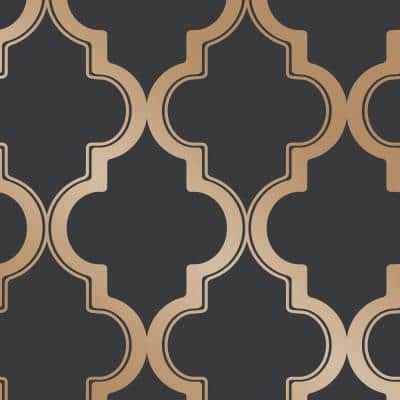 Marrakesh Midnight & Gold Peel and Stick Wallpaper (Covers 28 sq. ft.)