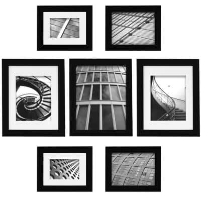 7-Opening 8 in. x 10 in. Wall Collage Picture Frame