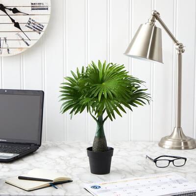 16 in. Mini Fountain Palm Artificial Plant
