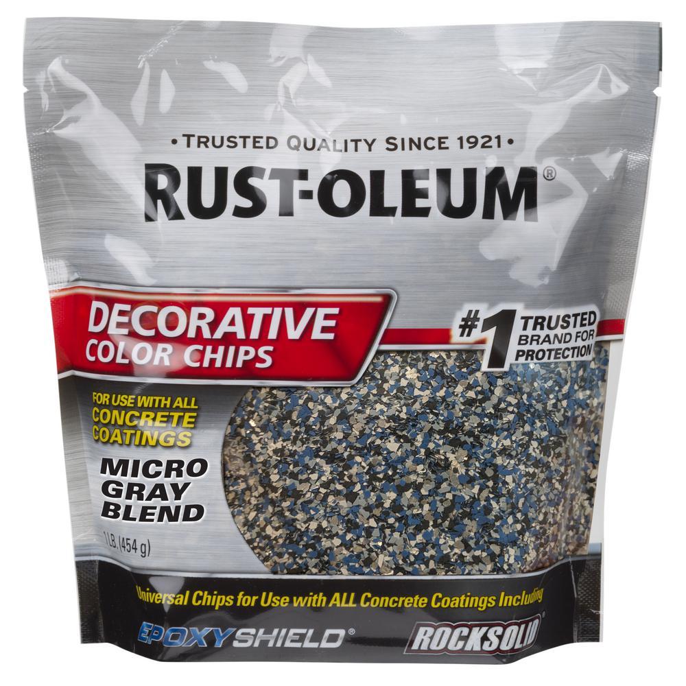 1 lb. Micro Gray Decorative Color Chips