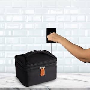 Black Food Warming Lunch Bag Plus 120 Volt