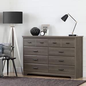 Versa 8-Drawer Gray Maple Dresser