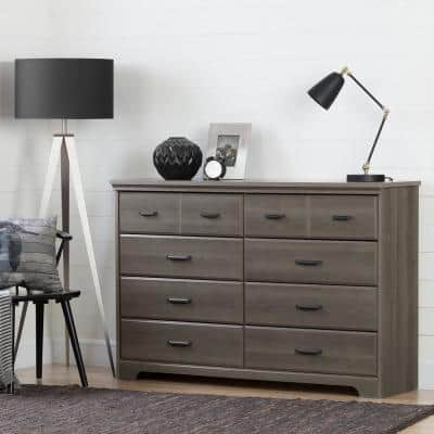 Versa 8-Drawer Gray Maple Dresser