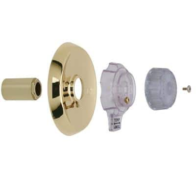 1-Handle Tub and Shower Faucet Trim Kit for Mixet Non-Pressure Balanced Valve in Polished Brass (Valve Not Included)