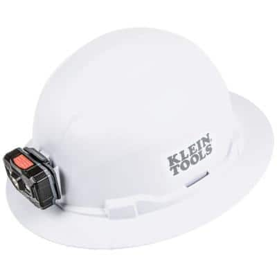 Hard Hat Non-Vented Full Brim with Rechargeable Headlamp