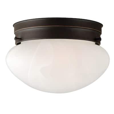 Millbridge 1-Light 7-5/8 in. Oil Rubbed Bronze Ceiling Semi Flush Mount Light Fixture