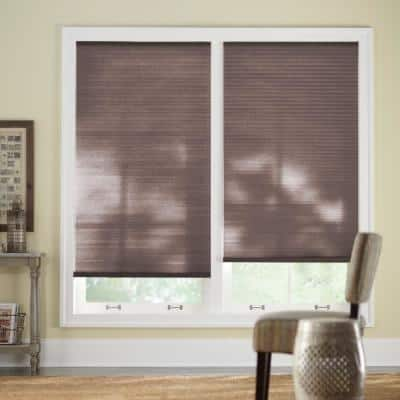 Chocolate Cordless Light Filtering Cellular Shade - 58.5 in. W x 64 in. L