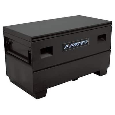 48 in. Steel Job Site Tool Box, Black