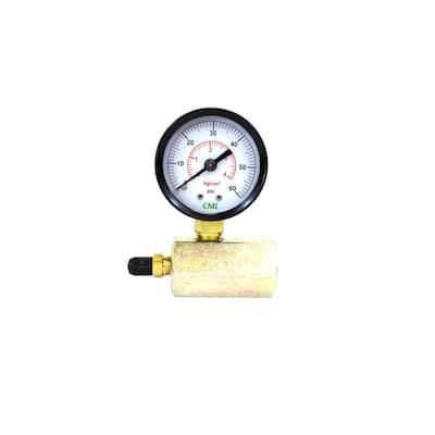 0 - 60 psi 2 in. Dial 3/4 in. Brass FNPT Gas Test Gauge (2-Pack)