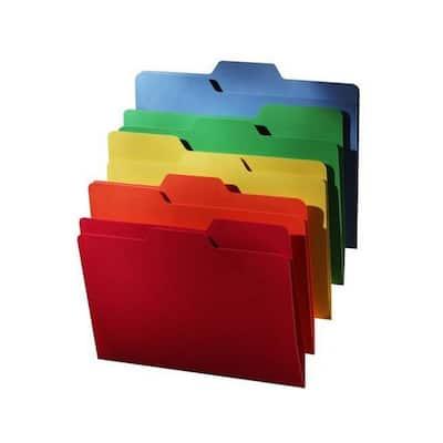 All Tab File Folder in Various Colors (80-Pack)