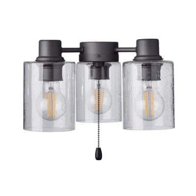 Rye 3-Light Graphite Ceiling Fan Shades LED Light Fixture