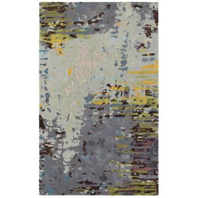 Gillespie Multi/Grey 10 ft. x 13 ft. Organic Abstract Area Rug
