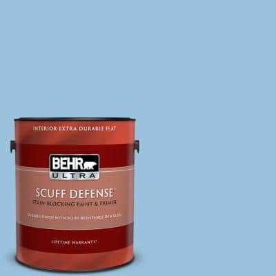 1 gal. #M520-3 Charismatic Sky Extra Durable Flat Interior Paint & Primer