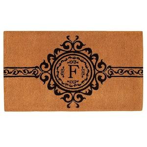Garbo Monogram Door Mat, Extra-Thick 24 in. x 36 in. (Letter F)