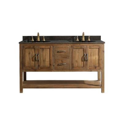 Austin 59 in. W x 21.5 in. D Bath Vanity Cabinet Only in Walnut