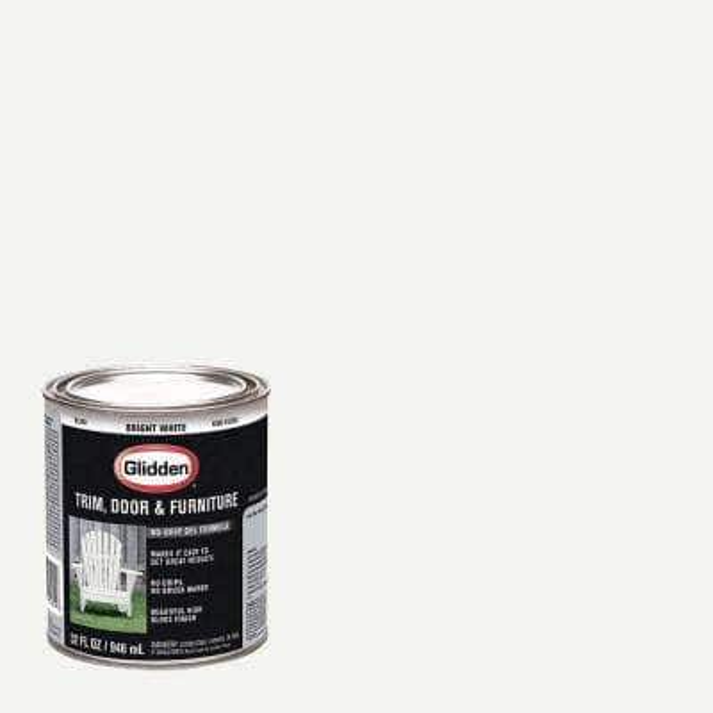 1 qt. Bright White Gloss Interior/Exterior Oil Paint