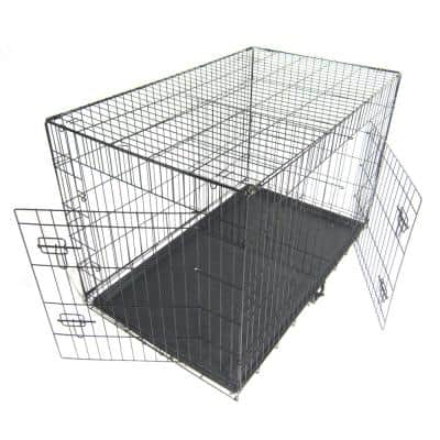 48 in. Pet Kennel Cat Dog Folding Steel Crate 1/6-Acre In-Ground Animal Playpen Wire Metal