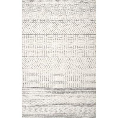 Nova Stripes Gray 8 ft. x 10 ft. Area Rug