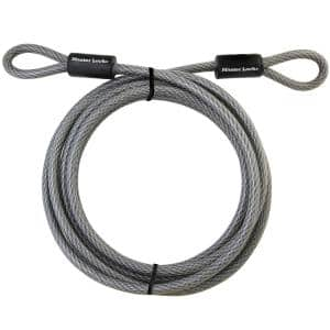 72DCC 15 ft Braided Steel Cable with Looped Ends and 3/8 in. Diameter