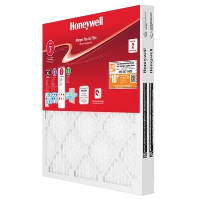 16 x 16 x 1 Allergen Plus Pleated MERV 11 - FPR 7 Air Filter (2-pack)