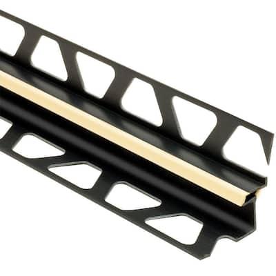Dilex-EKE Sand Pebble 1/2 in. x 8 ft. 2-1/2 in. PVC Corner Movement Joint Tile Edging Trim