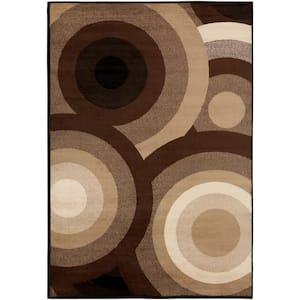 Kalocsa Chocolate 5 ft. x 8 ft. Indoor Area Rug