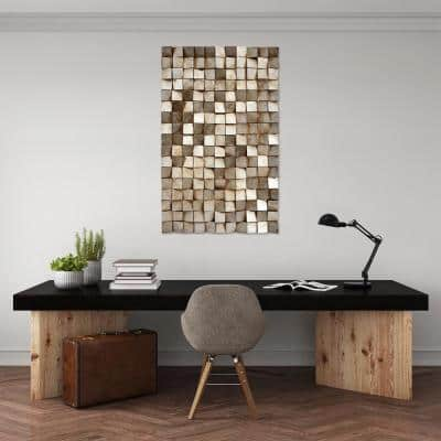 48 in. x 30 in. Textured 1 Mixed Media Hand Painted Dimensional Wall Art