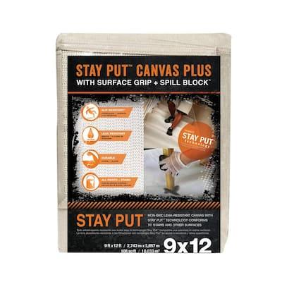 9 ft. x 12 ft. Stay Put Canvas Plus Drop Cloth