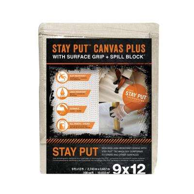 9 ft. x 12 ft. Stay Put Canvas Plus Drop Cloth