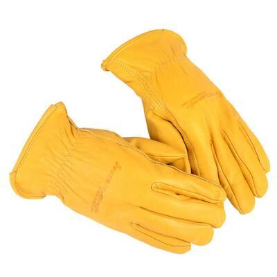 Lined Premium Cowhide Leather Driver's Gloves (Men's L)